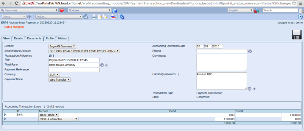 ERP5 Accounts View