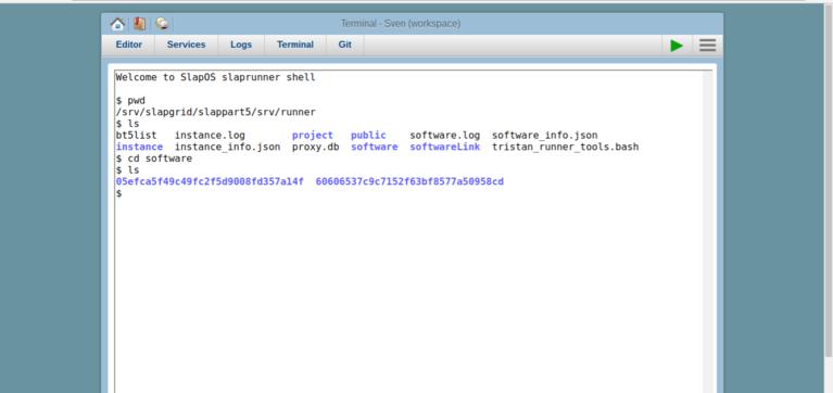 SlapOS Webrunner | Terminal - Software Releases