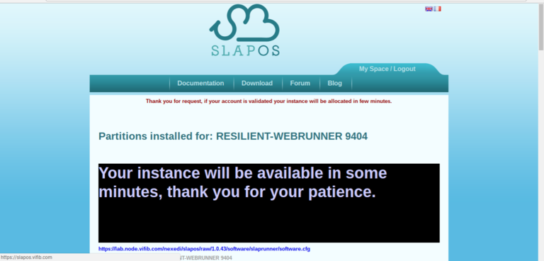 Requesting a Webrunner with ERP5 - SlapOS page for requesting a Webrunner