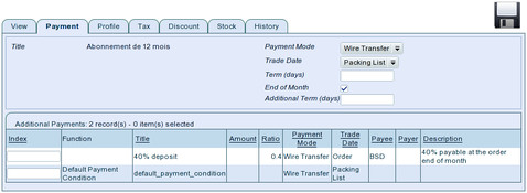 TioLive Sale Order Payment Tab