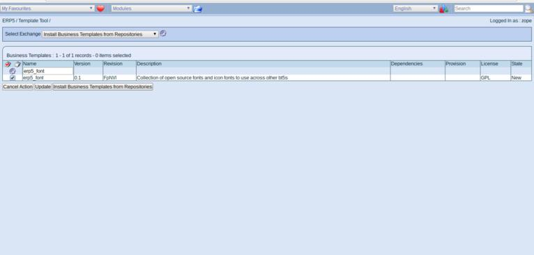 ERP5 Manage Business Templates   Install Missing Business Template Dependencies