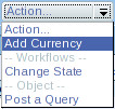 Add Currency Action Menu Screenshot